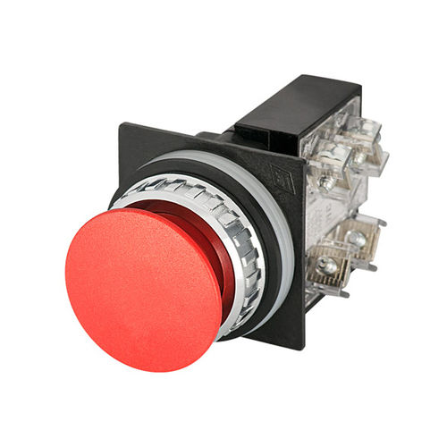 twist-to-release push-button switch