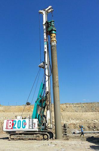 piling drilling rig / crawler / rotary / hydraulic