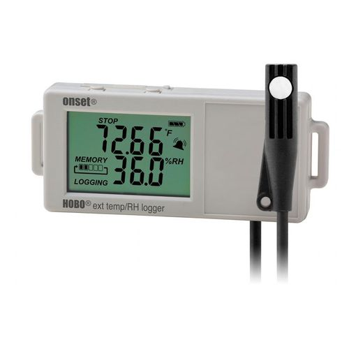 temperature data logger / relative humidity / USB / with LCD display
