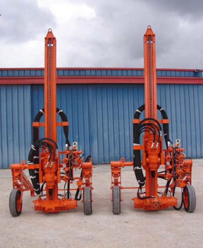 multifunction drilling rig / wheeled / rotary / pneumatic