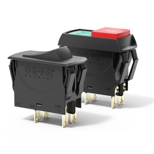 rocker switch type circuit breaker