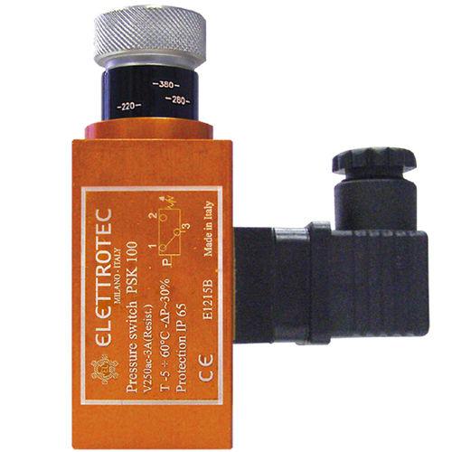 diaphragm pressure switch / piston / with adjustment knob / IP65