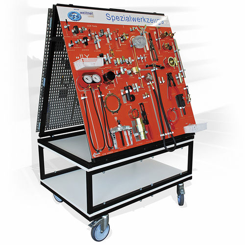 tool-holder cart / storage / perforated panels