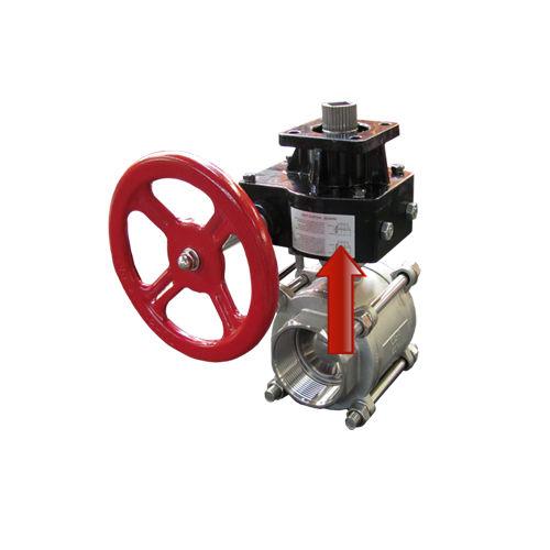 declutching gear reducer / perpendicular / 50 - 100 Nm / 100 - 200 Nm