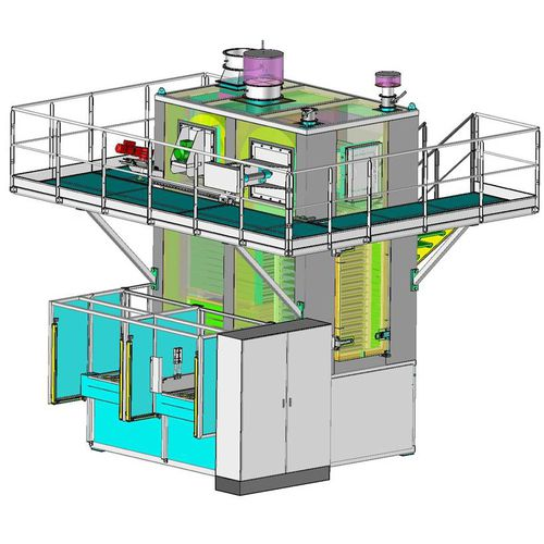 polymerization furnace / cabinet / gas / vertical