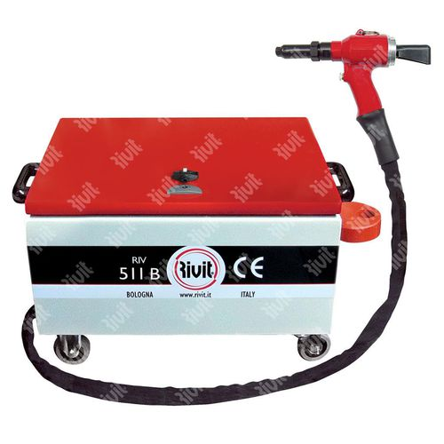 hydro-pneumatic riveting tool / for lockbolts / for blind rivets / with controller