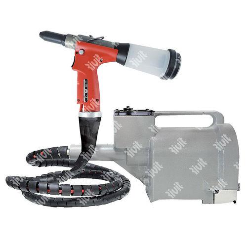 hydro-pneumatic riveter / for blind rivets