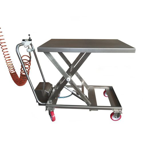 scissor lifting table / pneumatic / mobile
