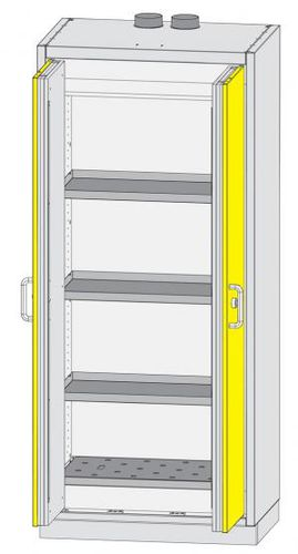 workshop cabinet / free-standing / double-door / sheet steel