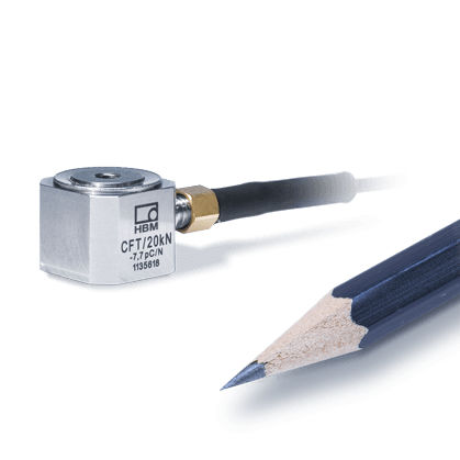 compression force transducer / miniature / stainless steel / piezoelectric