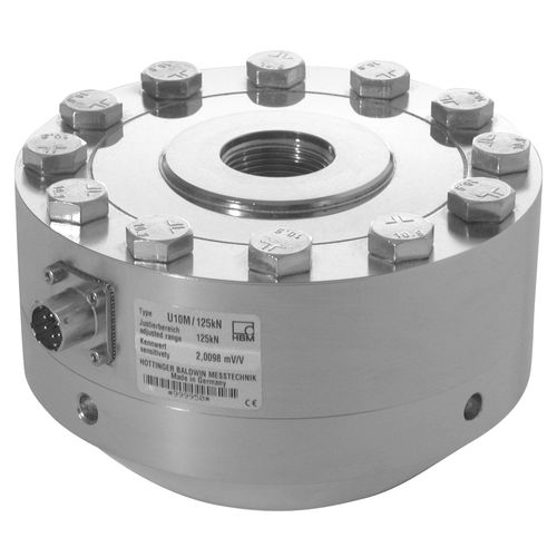 tension/compression load cell / planar beam / precision / through-hole