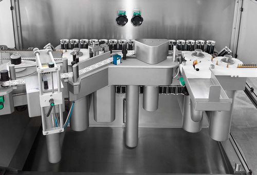 automatic labeler / for self-adhesive labels / high-speed / linear array