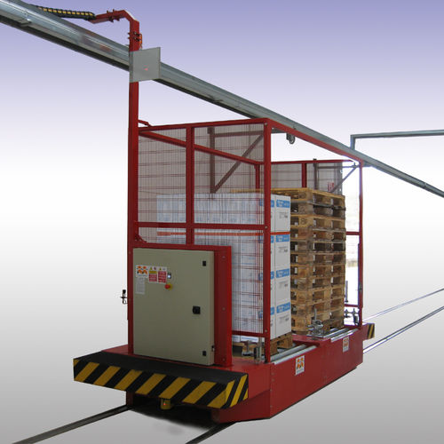 handling rail guided cart