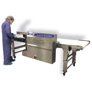continuous heat sealer / semi-automatic / for medical applications / packaging