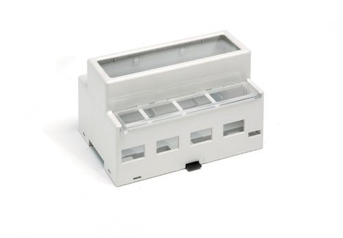 DIN rail enclosure / modular / polyimide / electronic equipment