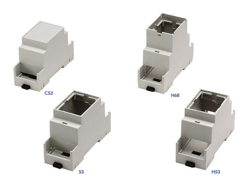 DIN rail enclosure / modular / polyimide / electronic equipment