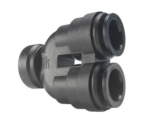 push-in fitting / U-shaped / for compressed air / plastic