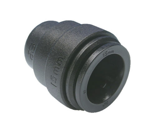 non-threaded end cap / round / plastic