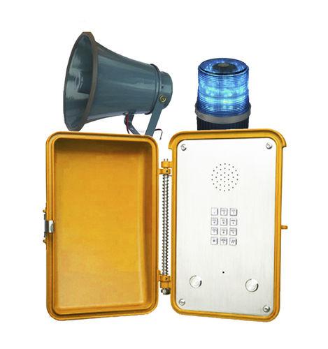 analog telephone / IP66 / with loudspeaker / weather-resistant