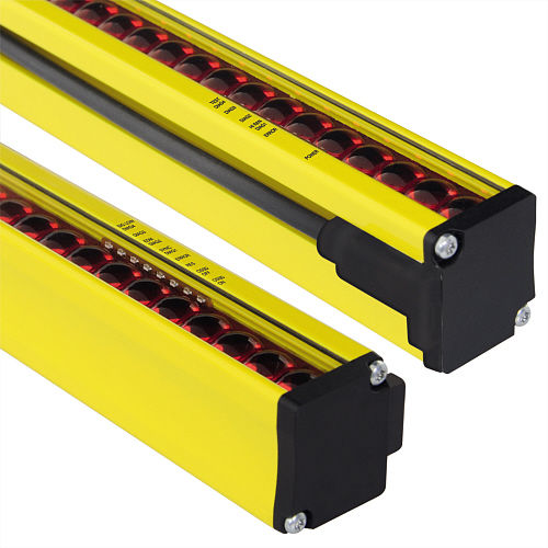 hand protection light curtain / type 4 safety / multibeam / through-beam