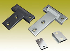 stainless steel hinge / corner / screw-in / 180°