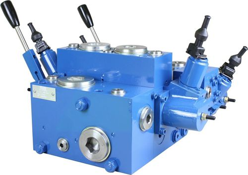 spool hydraulic directional control valve / manual / electro-hydraulic / sectional