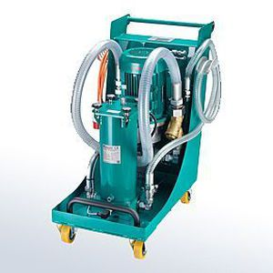 cartridge filtration system / for liquids / mobile / hydraulic