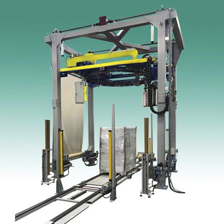 rotary ring stretch wrapping machine