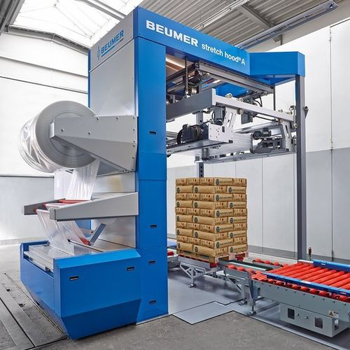 automatic pallet wrapping machine / stretch film