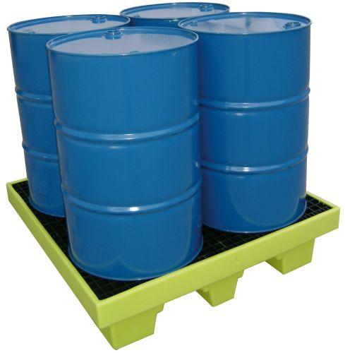 4-drum containment bund / cubitainer / polyethylene / rigid