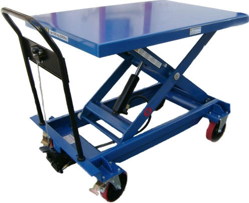 scissor lift table / manual / mobile
