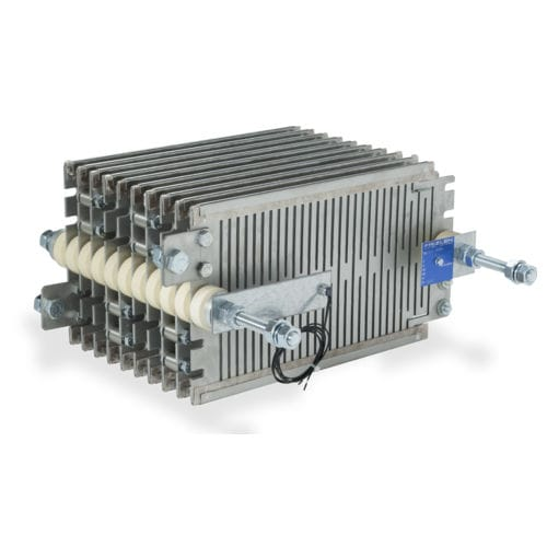 wire-wound resistor / stainless steel-housed / high-power