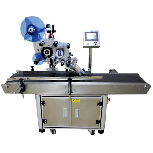 automatic labelling machine / for self-adhesive labels / top / for chemicals