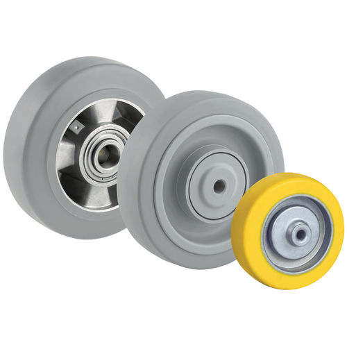 wheel with solid tire / silicone rubber / non-marking / elastic