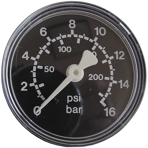 dial pressure gauge / bellows / process / precision