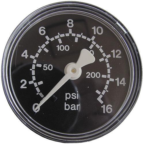 dial pressure gauge / Bourdon tube / process / stainless steel
