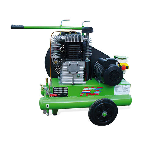 air compressor / on casters / electrically-powered / lubricated