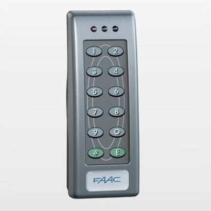 12-key keypad / wall-mounted / for access control