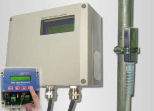 Doppler ultrasonic flow meter / for water / for slurry / for solids