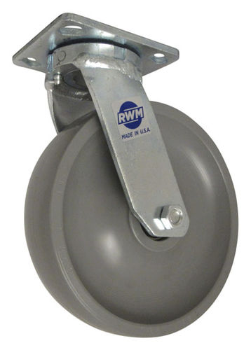 fixed caster / base plate / for medium loads / steel