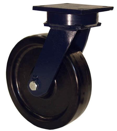 swivel caster / base plate / very heavy-duty / monobloc