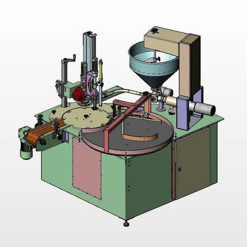 pneumatic filling and capping machine