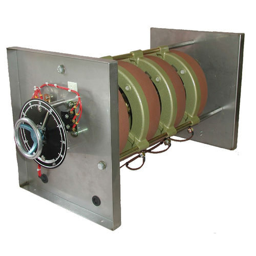 rotary rheostat / motorized / wire-wound / mounted in tandem