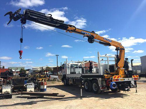 truck-mounted crane / swing-arm / hydraulic / lifting