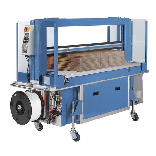 fully-automatic strapping machine / for corrugated cartons / with press / compacting