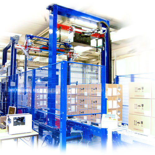 fully-automatic strapping machine / for large products / for heavy loads / for bricks
