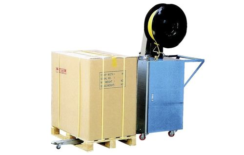 semi-automatic strapping machine / pallet / vertical
