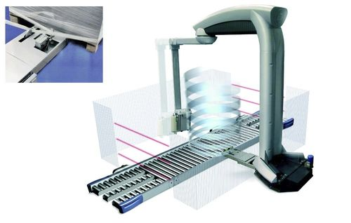 rotary arm stretch wrapper / automatic