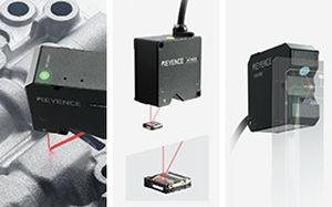 linear displacement sensor / non-contact / laser / high-precision