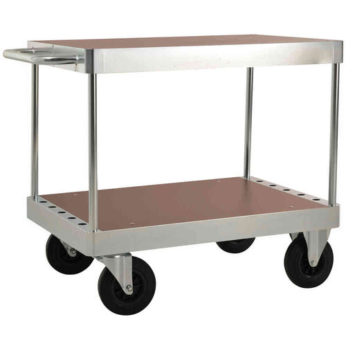 transport cart / 2 levels / for heavy loads / with swivel casters